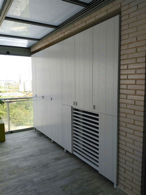 Espectacular armario de terraza de aluminio extrusionado ...