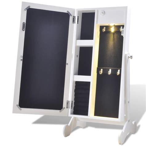 Espejo armario joyero blanco con luz LED   vidaXL.es