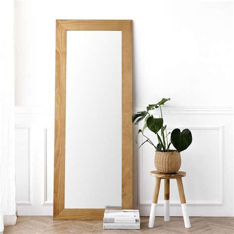 Espejo de madera natural Lise 180x70 en 2020 | Espejos ...