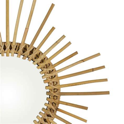 Espejo de pared de ratán, Ø65 cm — Qechic