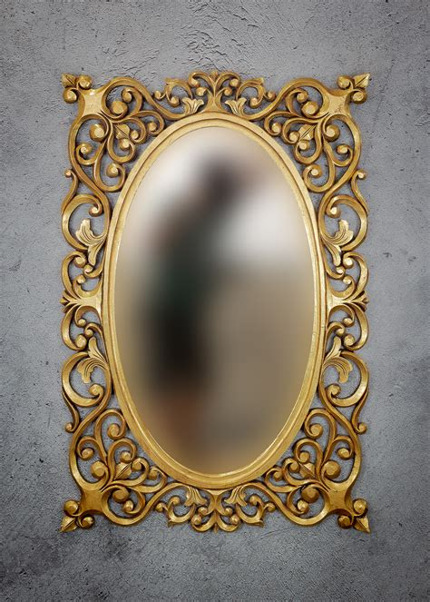 Espejo de pared decorativo Oval Java Island de 120x90cm en ...
