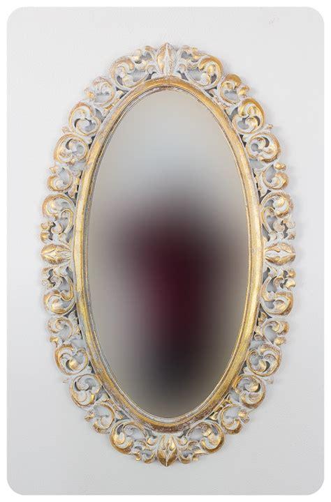Espejo de pared decorativo Ovali Buriro Pan de oro de ...