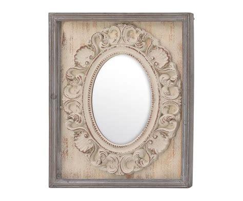 Espejo de pared Halia   natural y beige. Medidas: Largo ...