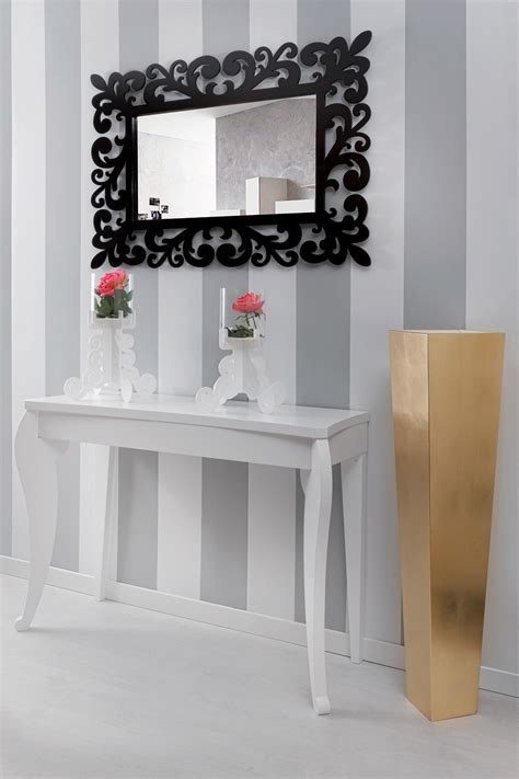 Espejo decorativo de pared de diseño moderno grande en madera