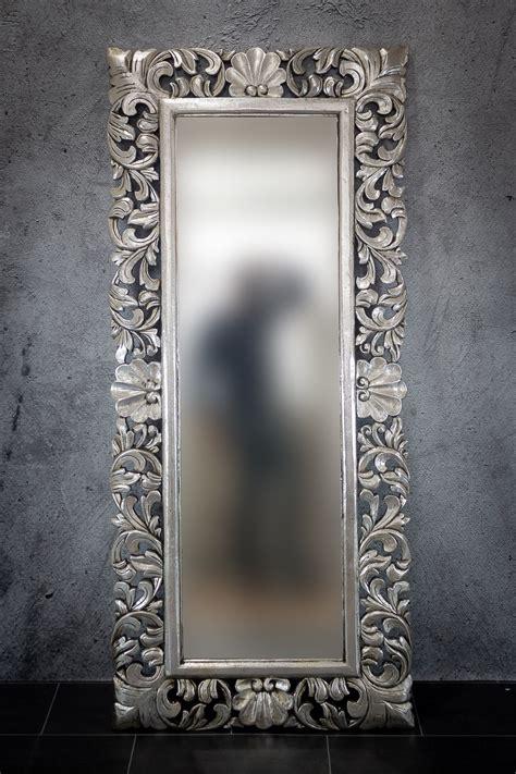 Espejo decorativo de pared en madera Beladona Plata ...