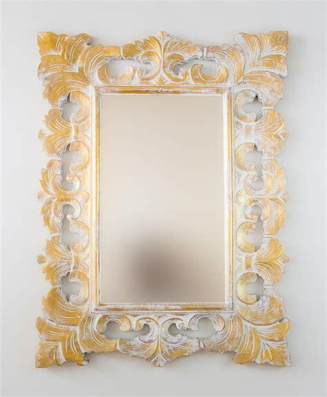 Espejo decorativo de pared en madera Colonial Classic Pan ...
