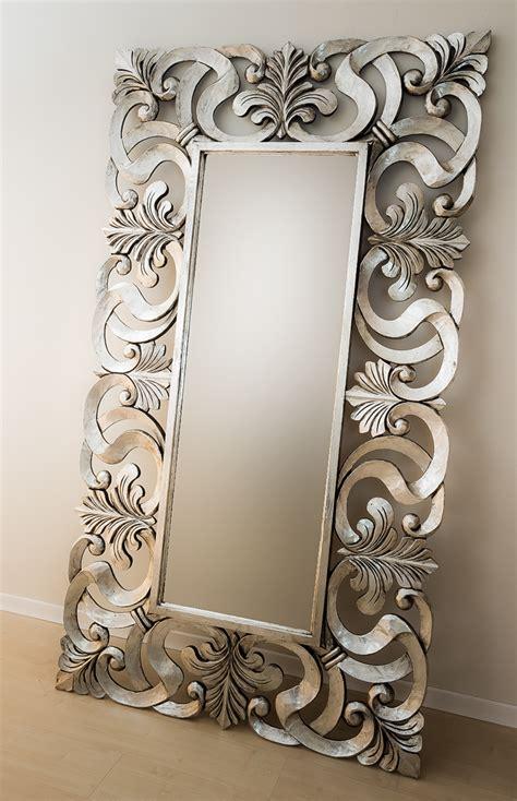 Espejo decorativo de pared en madera Daphine Plata ...