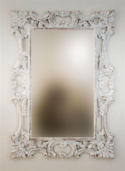 Espejo decorativo de pared en madera Eiffell Blanco ...