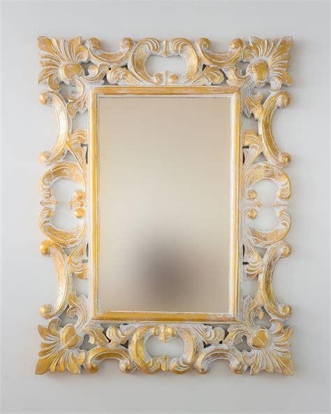 Espejo decorativo de pared en madera Eiffell Pan de oro ...