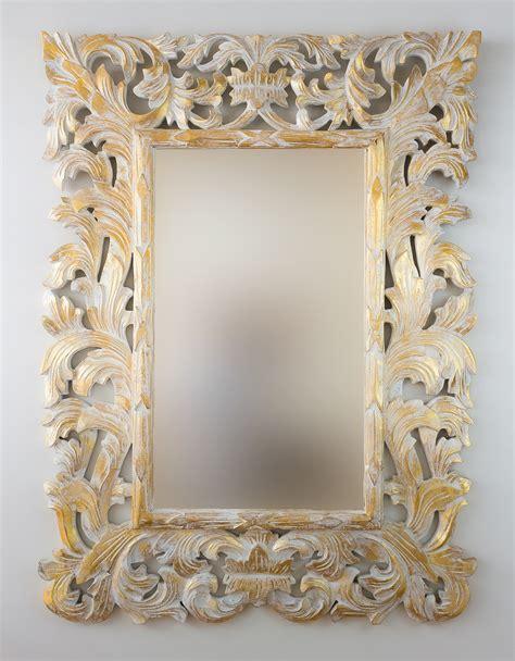 Espejo decorativo de pared en madera Renaisance Pan de oro ...