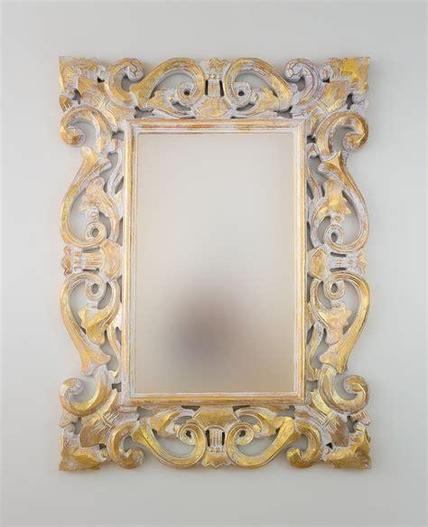Espejo decorativo de pared en madera Tanduk Pan de oro ...