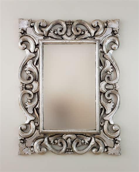 Espejo decorativo de pared en madera Tanduk Plata ...