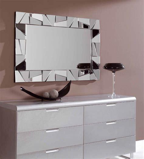 Espejo decorativo rectangular de cristal con marco formado ...