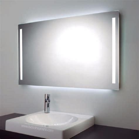 Espejo Para Baño Con Luz Led Integrada De Dos Barras ...