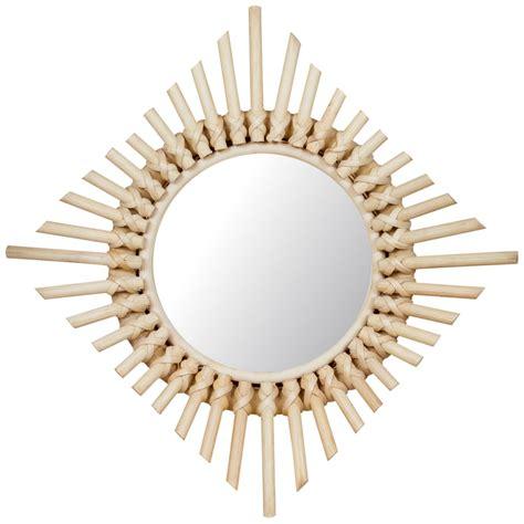 Espejo realizado en ratan modelo B