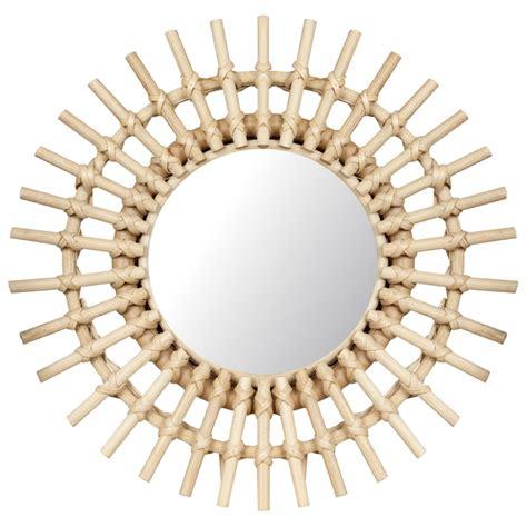 Espejo realizado en rattan modelo C