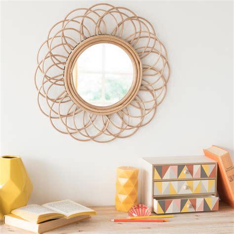 Espejo redondo de ratán D. 50 cm VINTAGE   Maisons du Monde