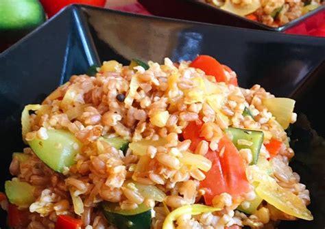 Espelta en grano con verduras Receta de Nuritmica.fit  Cookpad