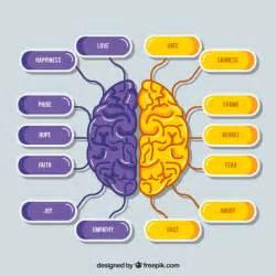 Esquema de cerebro morado y lila | Vector Gratis