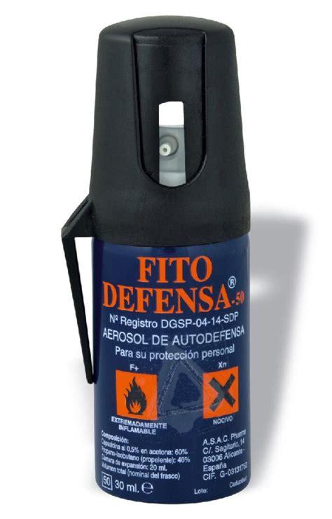 ¿Está prohibido el uso de sprays de defensa personal?   h50