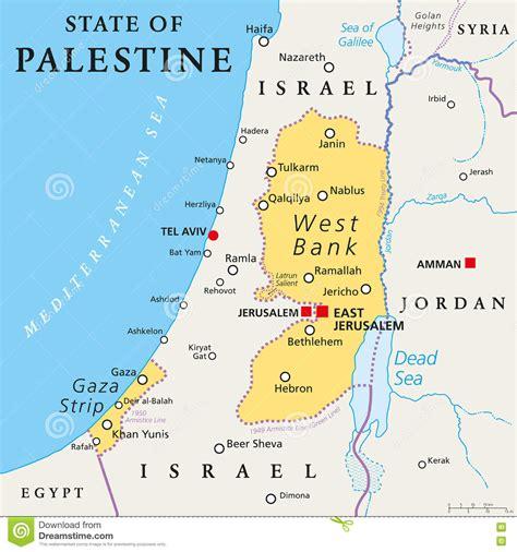 Estado Del Mapa Político De Palestina Ilustración del ...
