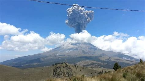 Estados que estarían en riesgo si el Popocatépetl hiciera ...