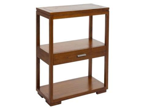 Estantería auxiliar salón con cajón de madera maciza