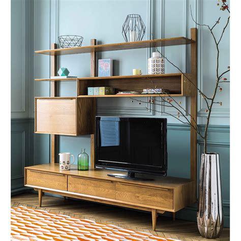 Estantería mueble de TV de roble macizo Portobello ...