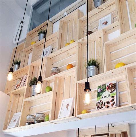 Estanterías con cajas de madera   BohoChicStyleBohoChicStyle