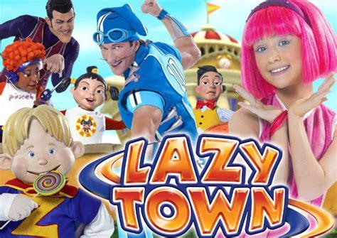 Este es el detrás de cámaras de las escenas de Lazy Town ...