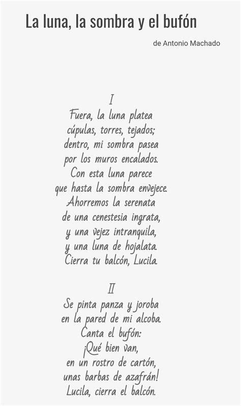Este poema fue publicado en el año 1924 por Antonio ...