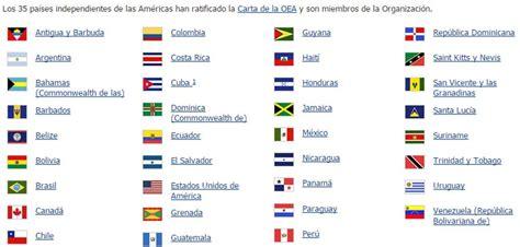 Estos son los 35 países miembros de la OEA