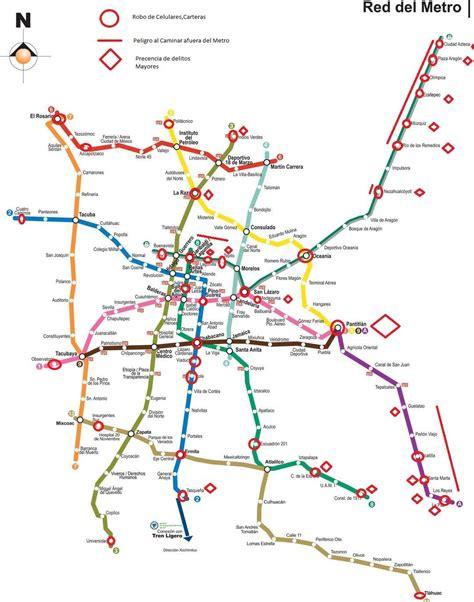 Estudiantes crean mapa delictivo del Metro con las zonas ...