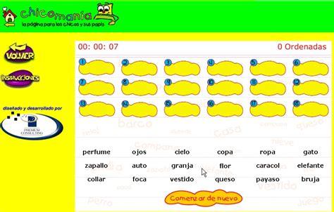 Estudiar con Juegos: Ordenar palabras alfabéticamente