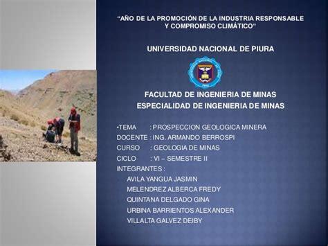 ETAPAS DE LA PROSPECCION GEOLOGICA MINERA