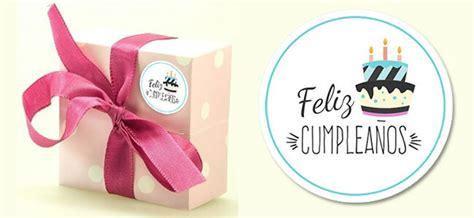 Etiquetas de feliz cumpleaños para imprimir   Cartel Gratis
