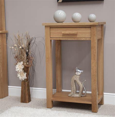 Eton solid oak hallway furniture small console hall table ...