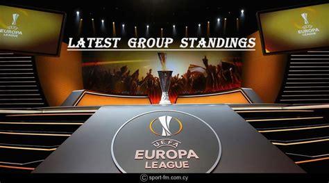 Europa League 2018 19 latest Group standings | Chelsea ...