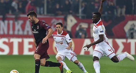 Europa League: AC Milan vs Olympiacos: ver resultado ...