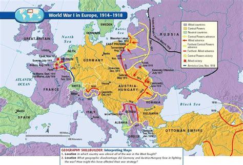 Europe World war 1: 1914 1918 | Wereldoorlog 1 in kaarten ...