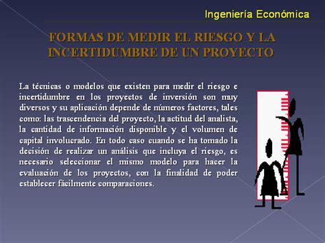 Evaluación de proyectos con riesgo e incertidumbre ...
