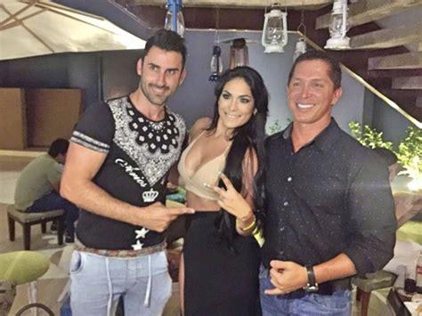 Evelyn Vela posó con Eduardo Pastrana y la actual pareja ...