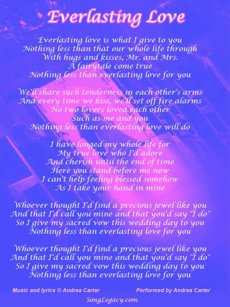 Everlasting Love   Original Wedding First Dance Song