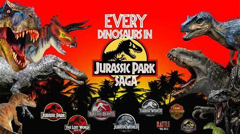 Every dinosaurs in Jurassic Park saga  1993 2019    YouTube