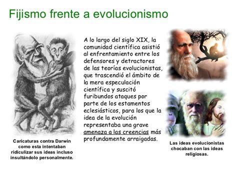 Evolución 1.  Fijismo y evolucionismo