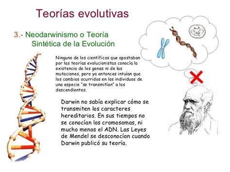 Evolución 3.  Teorías evolutivas | Teoria evolutiva ...