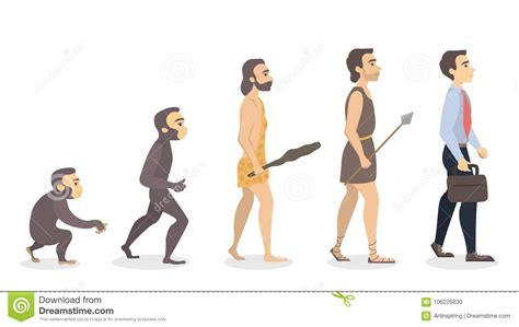 Evolution of man. stock vector. Illustration of caveman ...