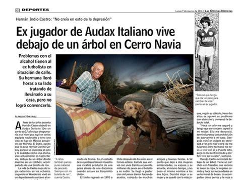 Ex jugador de Audax Italiano vive en la calle en Cerro ...