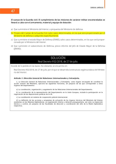 Examen Guardia Civil 2019 corregido 14 Julio