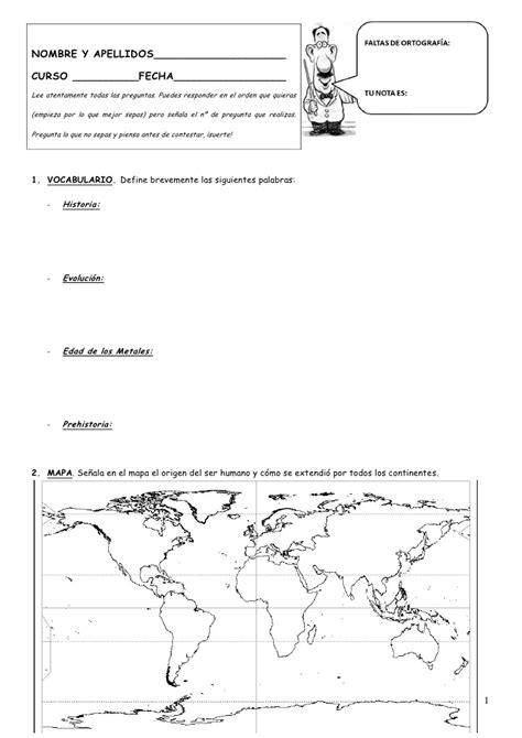 Exámenes 1ª y 2ª evaluación historia  1ºeso